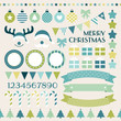 Retro Christmas Set Blue/Green