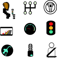 set of car icons