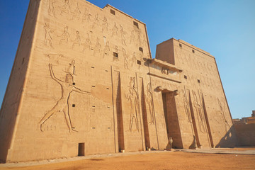 Entrance to the Horus Temple ( Edfu, Egypt )