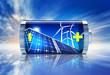 Leinwanddruck Bild - battery