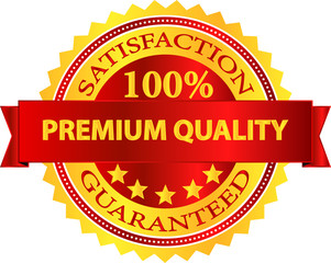 Premium Quality Satisfaction Guaranteed Badge