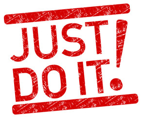 Just do it Stempel rot  #130921-svg02