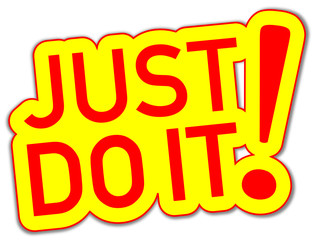 Just do it Sticker gelb  #130921-svg01