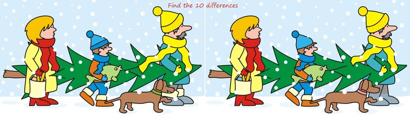 10 differences - family and tree