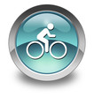 "Light Blue Glossy Pictogram ""Bicycle Trail"""