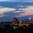 Bagan Archaeological Museum view at twilight in Bagan, Myanmar