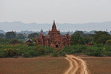Ancient Pagoda view in Pagan archaeological zone, Myanmar poster