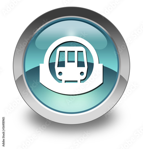 "Light Blue Glossy Pictogram ""Subway / Mass Transit"""