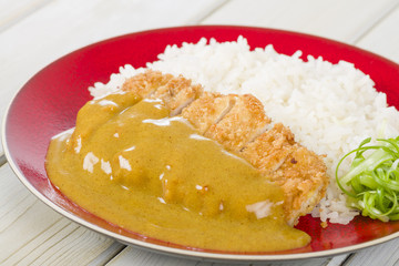 Katsu Kare - Japanese pork cutlet with curry sauce and rice