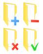 Checkbox folder icons. Vector illustration