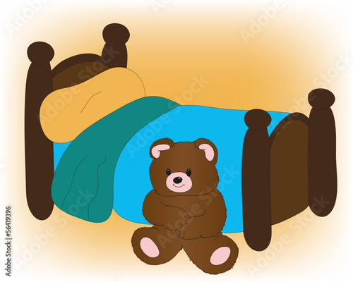 Bear with bed