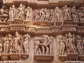 Erotic sculptures in Khajuraho