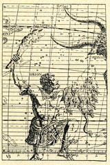 Orion constellation (Atlas Coelestis, 1752)