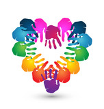 Hands together for Love logo vector design