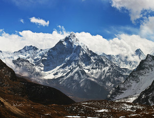 Ama Dablam peak - view from Cho La pass, Nepal