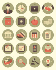 Financial and Business Icons Gray Set