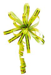 Green ribbon isolated