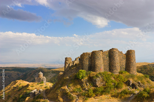 The Amberd fortress and church  in Armenia