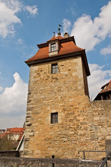 the defensive tower of medieval fortress, Germany