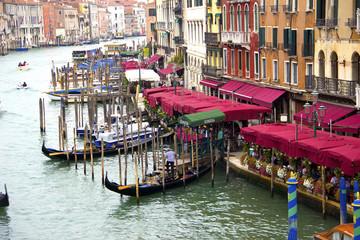 Grand Canale from Rialto Bridge in Venice