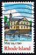 Postage stamp USA 1990 Rhode Island, Ratification of the Constit
