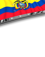 Designelement Flagge Equador