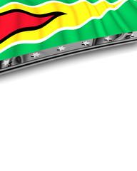 Designelement Flagge Guyana