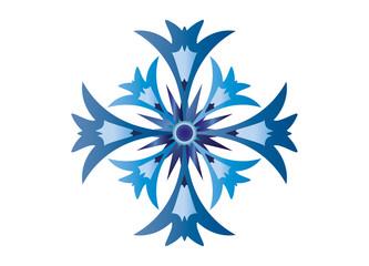 Kornblumen Blüte stilisiert