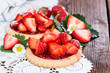 Small Strawberry Tart with fruits