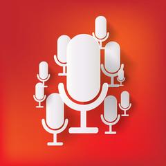 microphone web icon, flat design