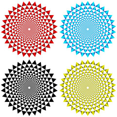 Four Concentric Circular Patterns