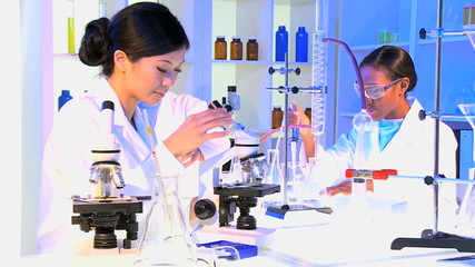 Medical Students Working in Hospital Laboratory
