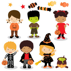 Halloween kids costume party