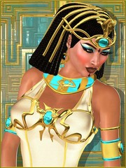 Close up face of Egyptian princess