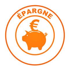 épargne sur bouton web rond orange