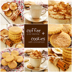 Coffee a la Vienne and apple cinnamon cookies set