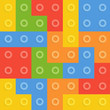 Color constructor blocks seamless pattern