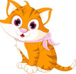 cute cat cartoon posing