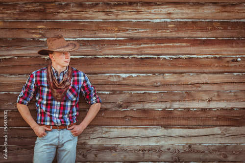 cowboy style man on stable
