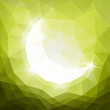 Islamic greeting card with crescent - eps10