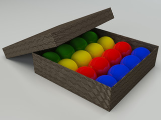 colorfull billiard balls set