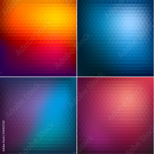 Abstract triangle backgrounds set II - eps10