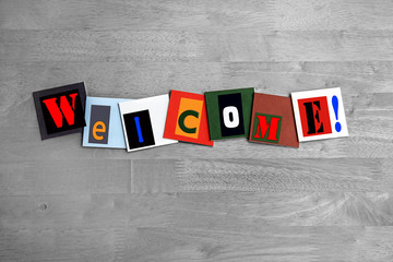 Welcome - art design / sign