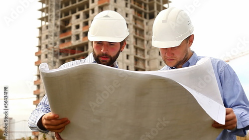 construction engineers at construction site