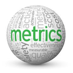 """METRICS"" Tag Cloud Globe (statistics data graphical analysis)"
