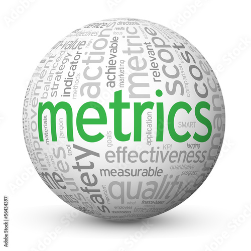 """METRICS"" Tag Cloud Globe (statistics data graphical analysis)"
