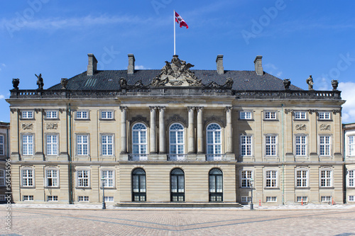 Historic Royal Christian VII palace in Copenhagen, Denmark