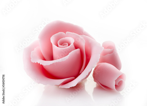 pink decorative sugar rose