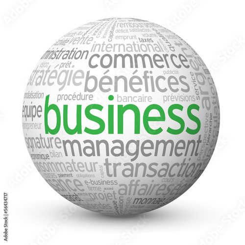 "Globe - Nuage de Tags ""BUSINESS"" (affaires argent commerce b2b)"