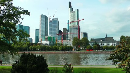 Huge Buildings near the river
